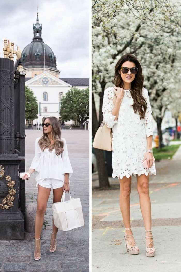 White On White Clothing Combinations For Women 2018 (29)