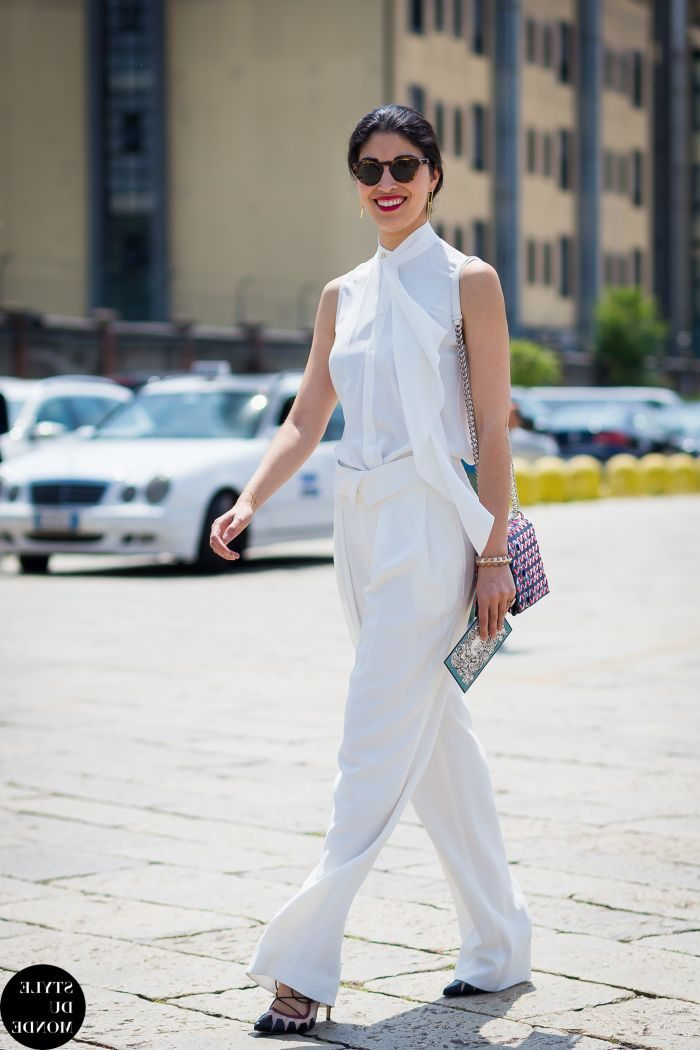 White On White Clothing Combinations For Women 2018 (3)