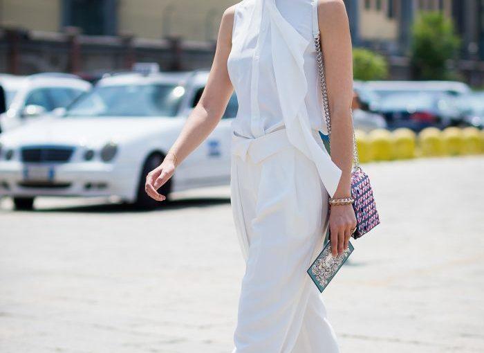 White on White Clothing Trend For Women