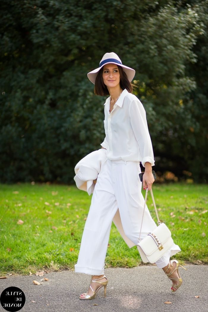 White On White Clothing Combinations For Women 2018 (5)