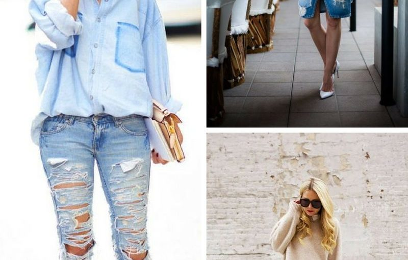 Distressed and Ripped Jeans For Summer