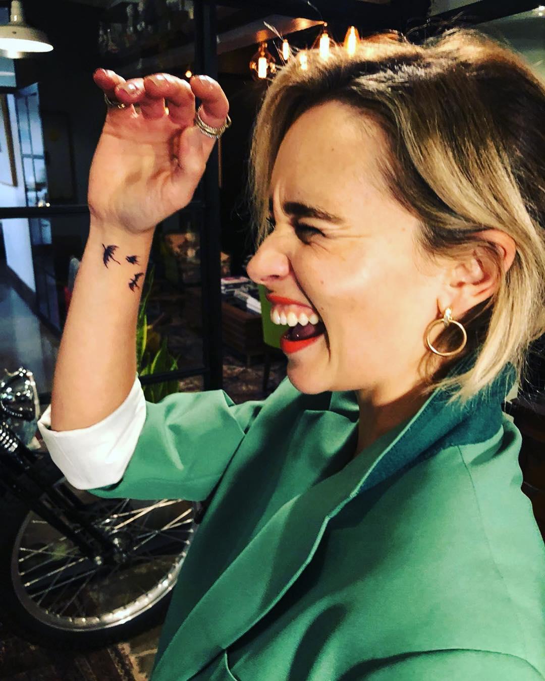Dragons Tattoo On Emilia Clarke 2019