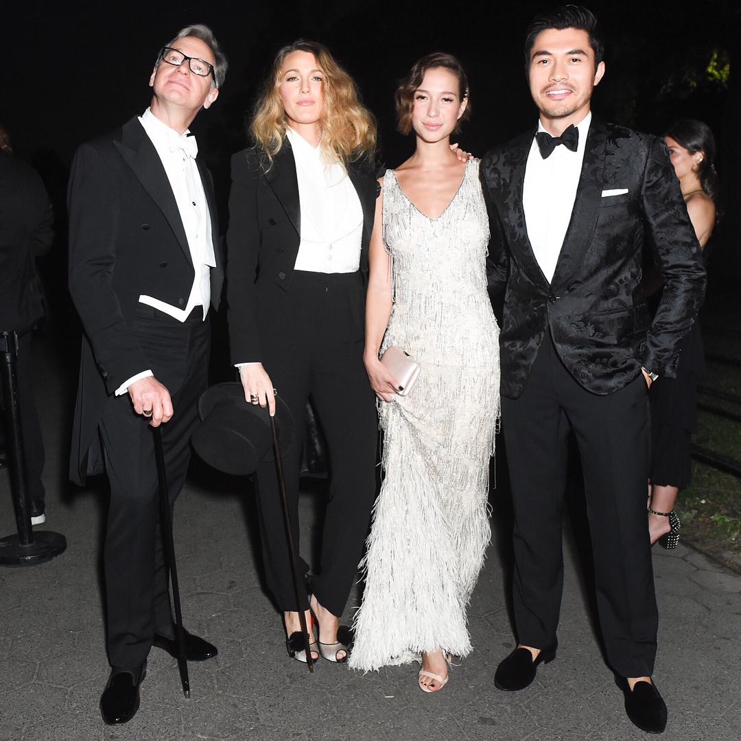 Blake Lively Wearing Tuxedo Suit 2019