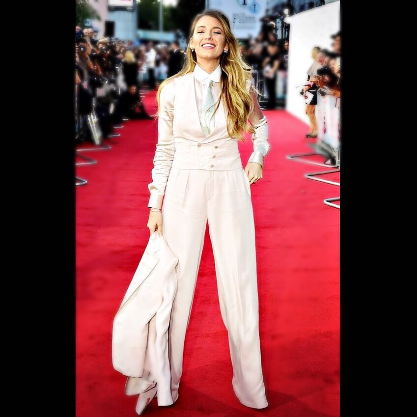 Blake Lively In A Blush Three Piece Suit 2019