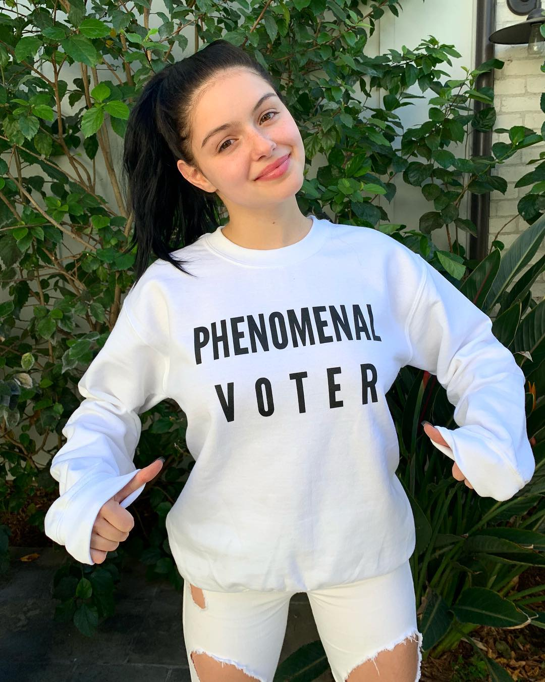 Ariel Winter Wearing All White Sporty Outfit 2019