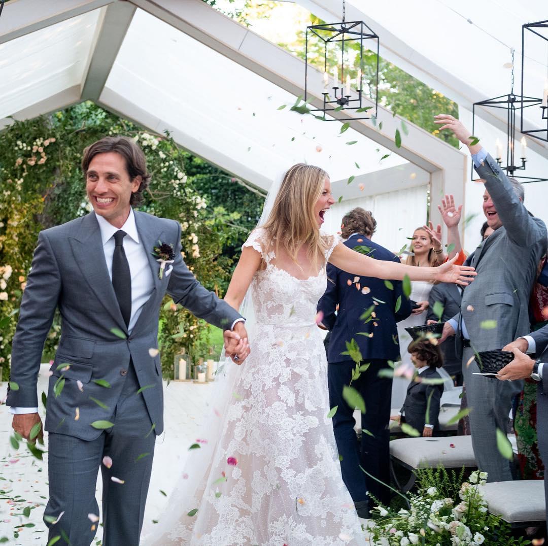 Gwyneth Paltrow In A White Lace Wedding Gown 2019