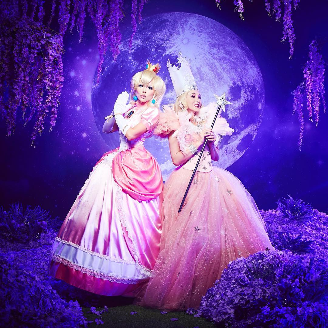 Kandee Johnson Wearing Princess Pink Ball Gown 2021