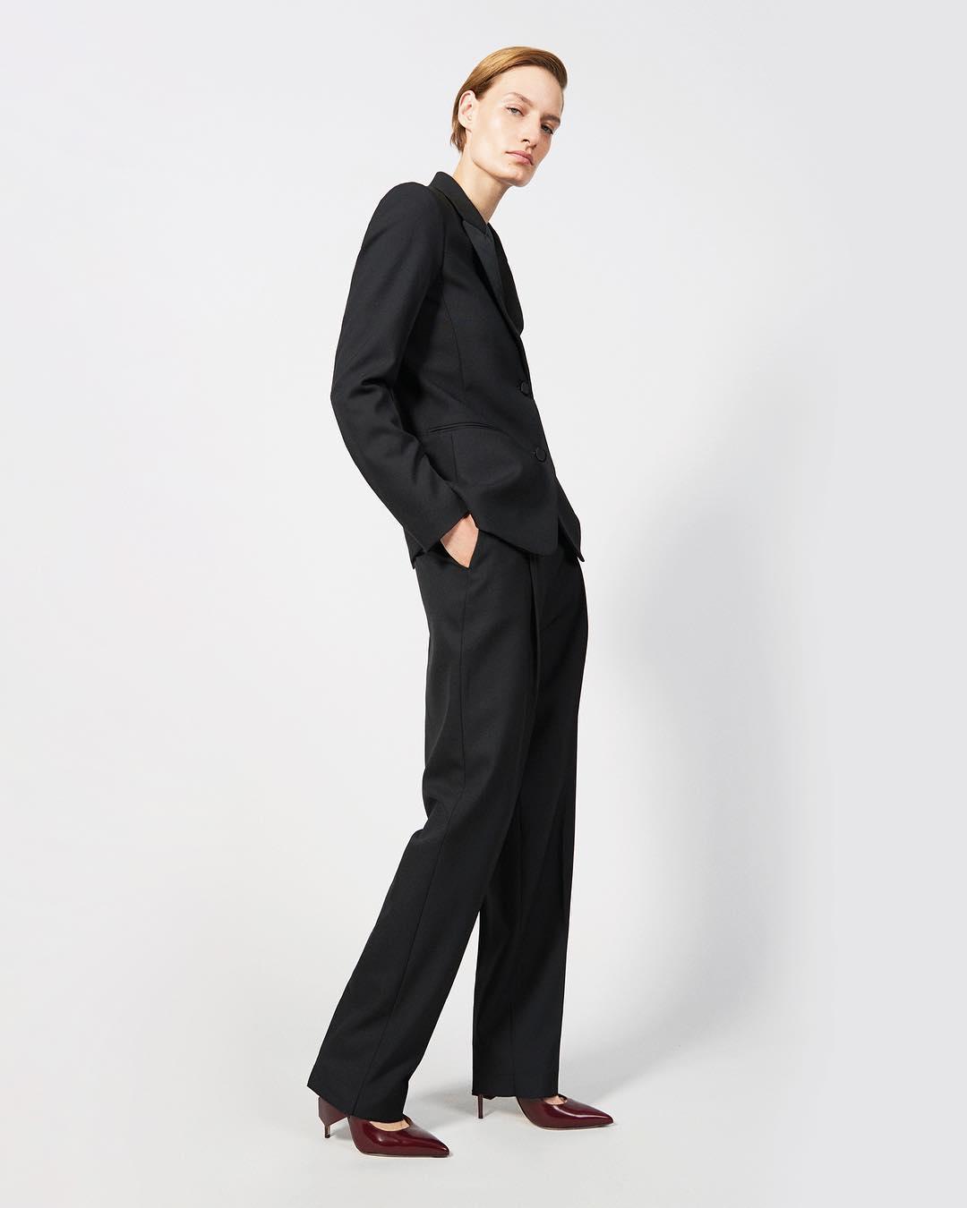 Black Pantsuit By Victoria Beckham 2021