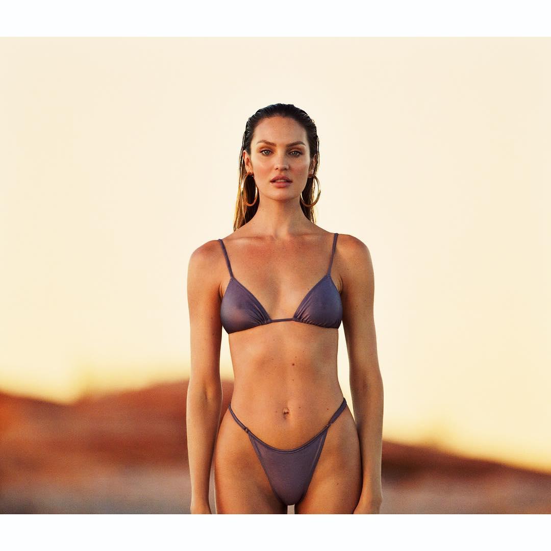 Candice Swanepoel Wearing Sexy Purple Bikini Swimwear From TropicofC 2019
