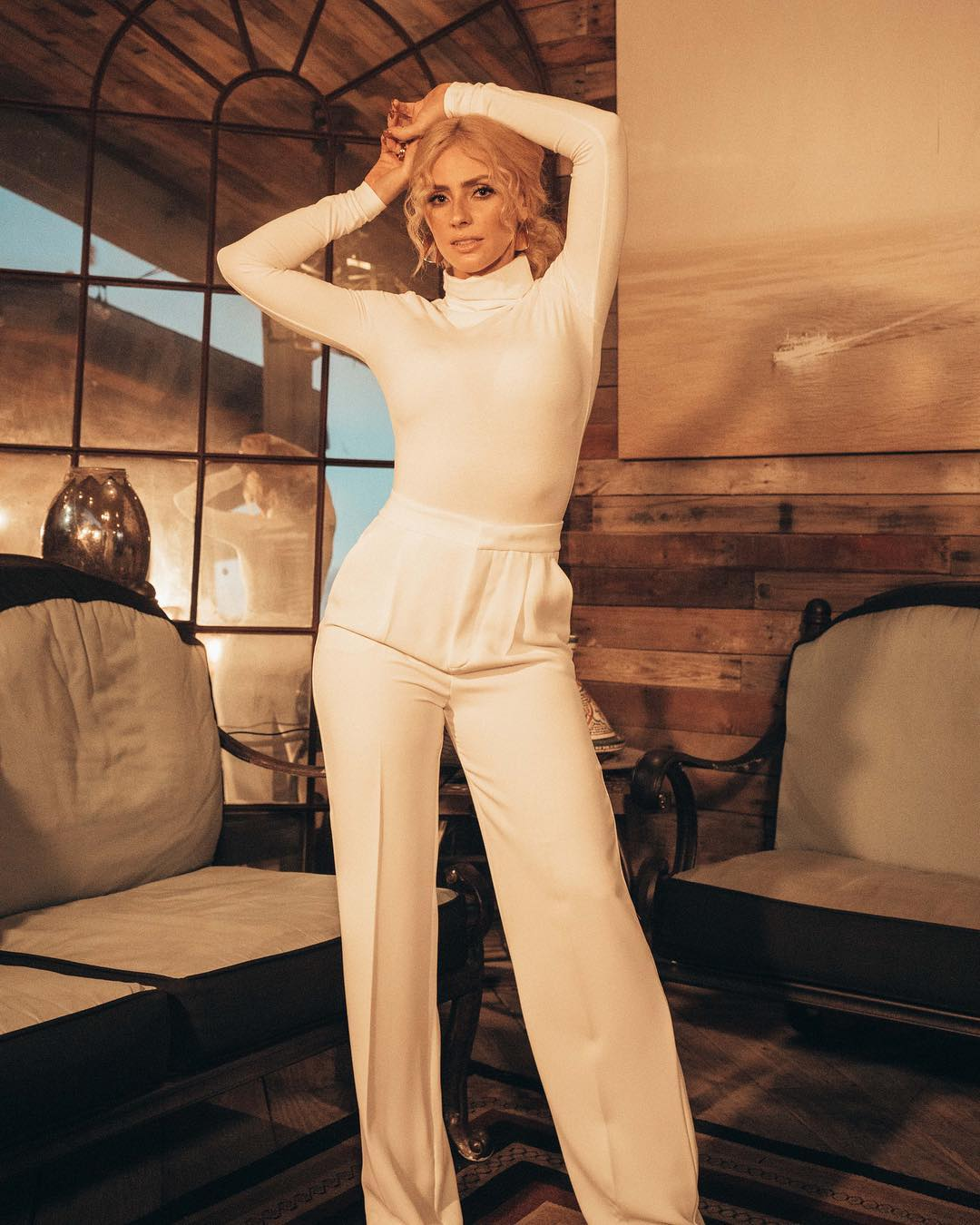 Natalia Rivera In All White Outfit By Mango 2020