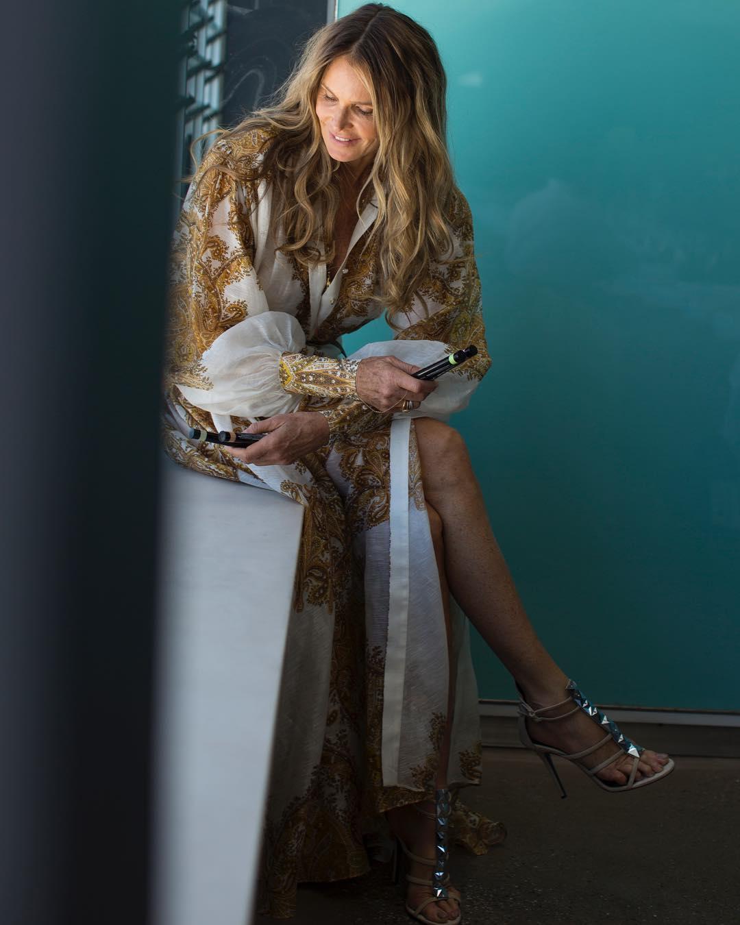 Elle Macpherson In Zimmermann Long Dress 2019