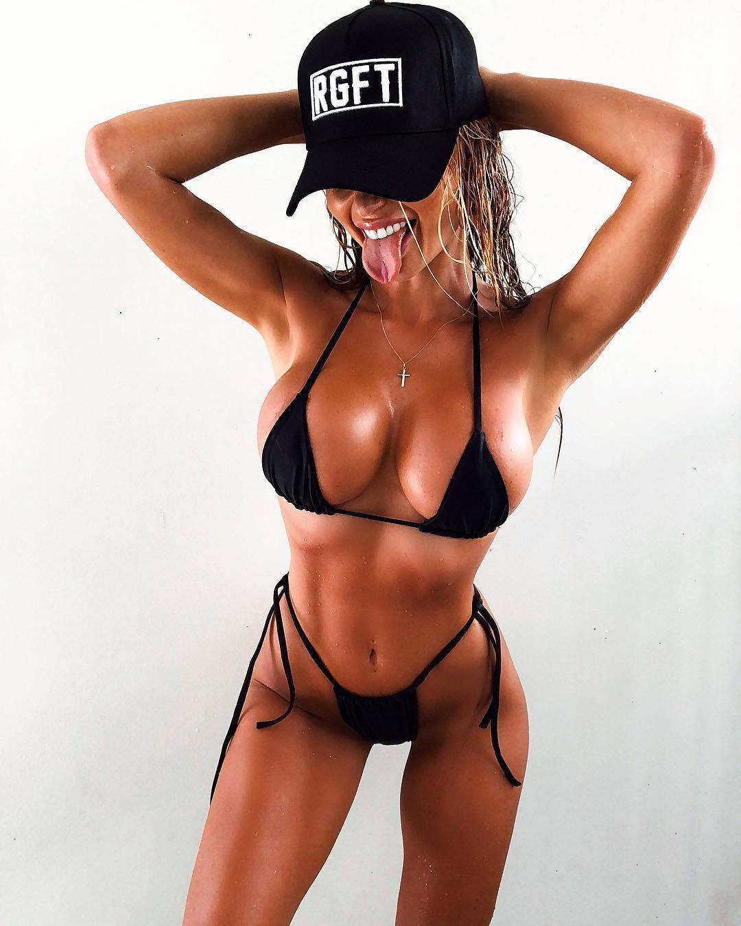 Abby Dowse In A Black Bikini 2019