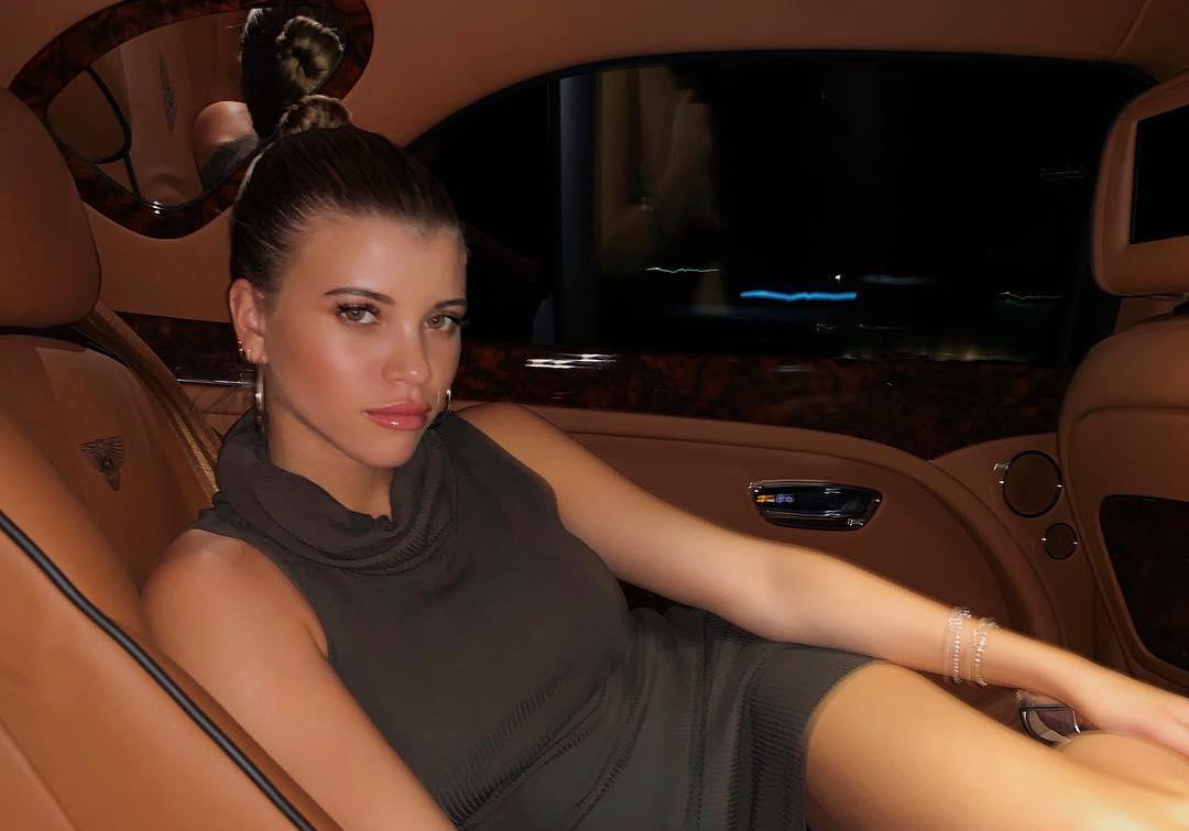Sofia Richie In Ribbed Knit Sleeveless Dress 2021