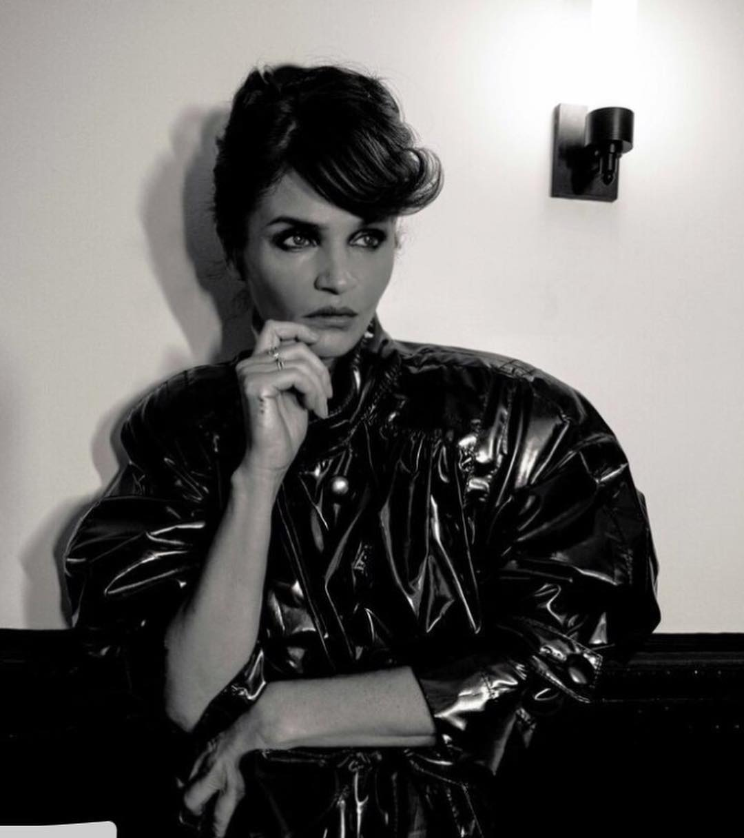 Helena Christensen With Wavy Long Hairstyle For Whitewall Magazine 2019