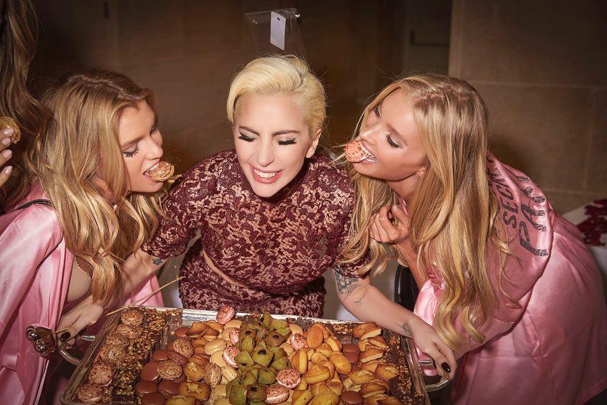 Stella Maxwell Wearing Pink At Victoria's Secret Backstage 2019