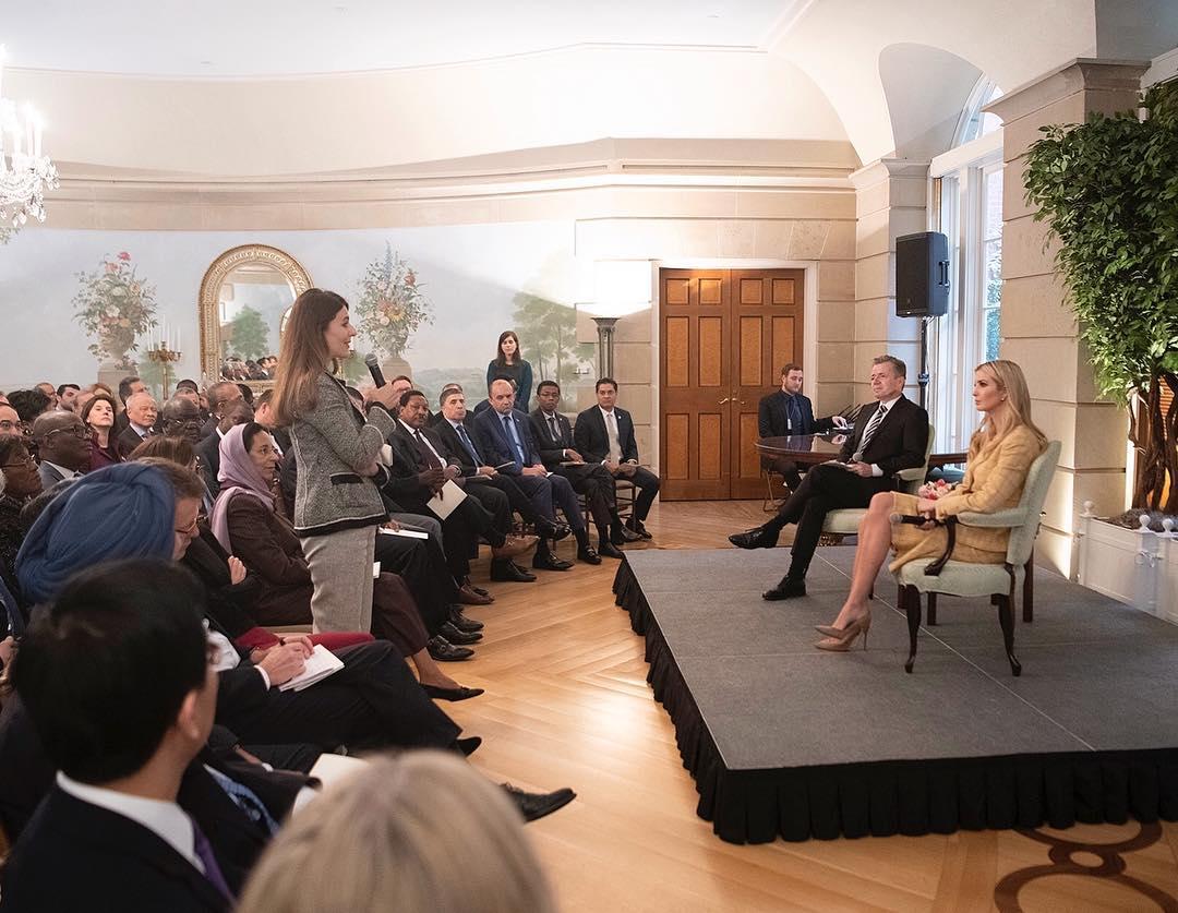 Ivanka Trump Wearing Checkered Skirtsuit 2021