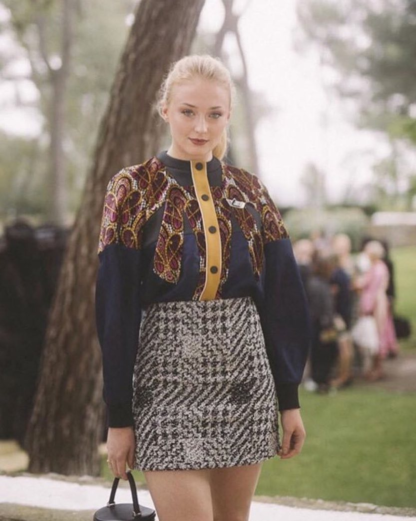 Sophie Turner Wearing Louis Vuitton Outfit 2019