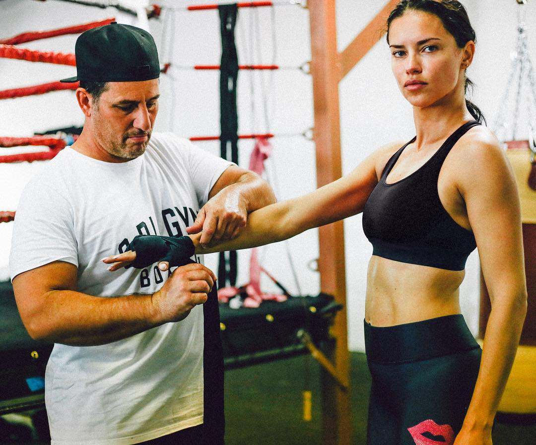 Adriana Lima Wearing Workout Attire For Sparring 2019