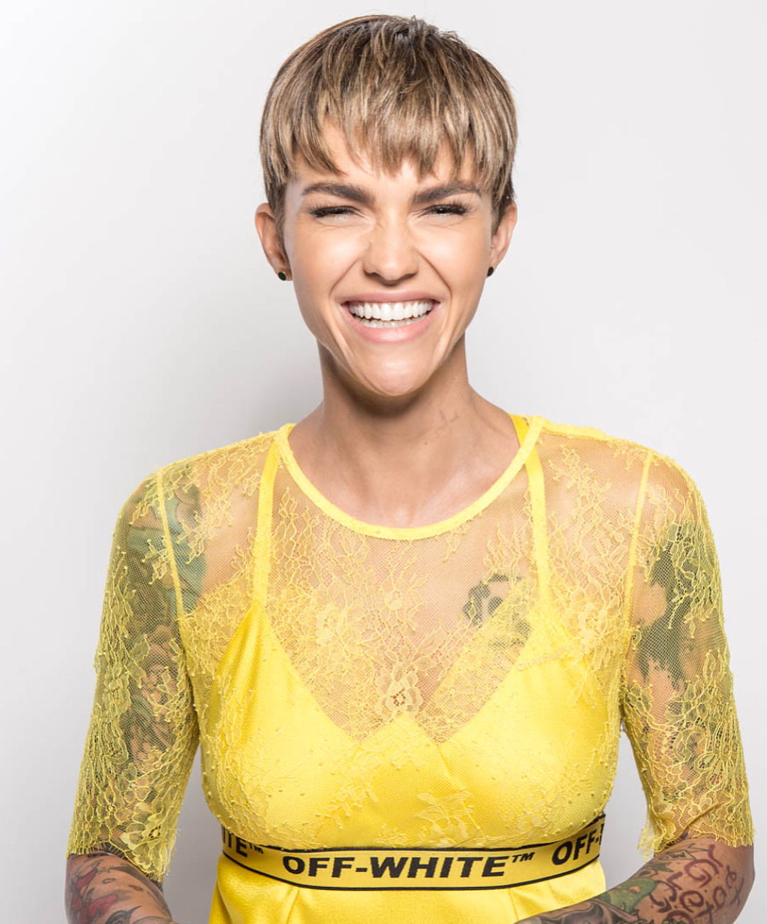 Ruby Rose With Short Layered Pixie Cut 2019