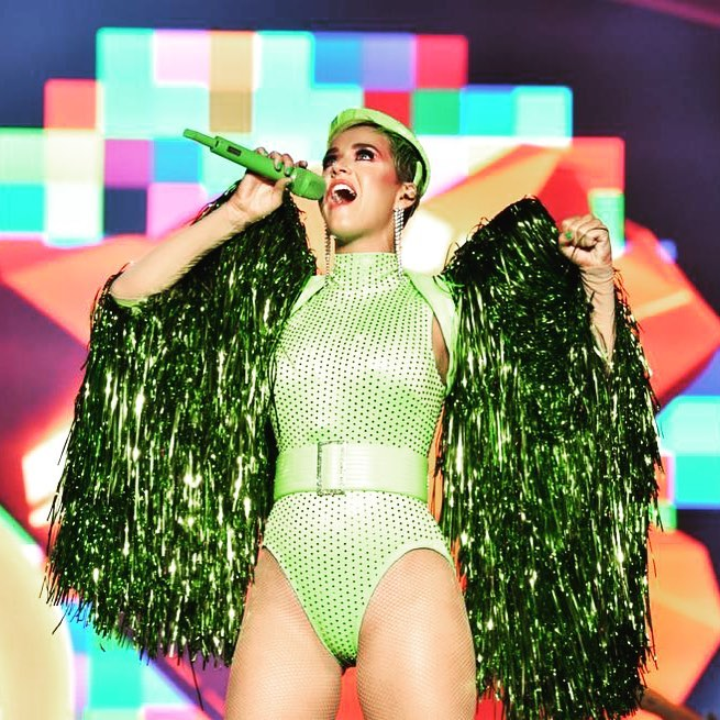 Neon Green Bodysuit On Katty Perry 2020