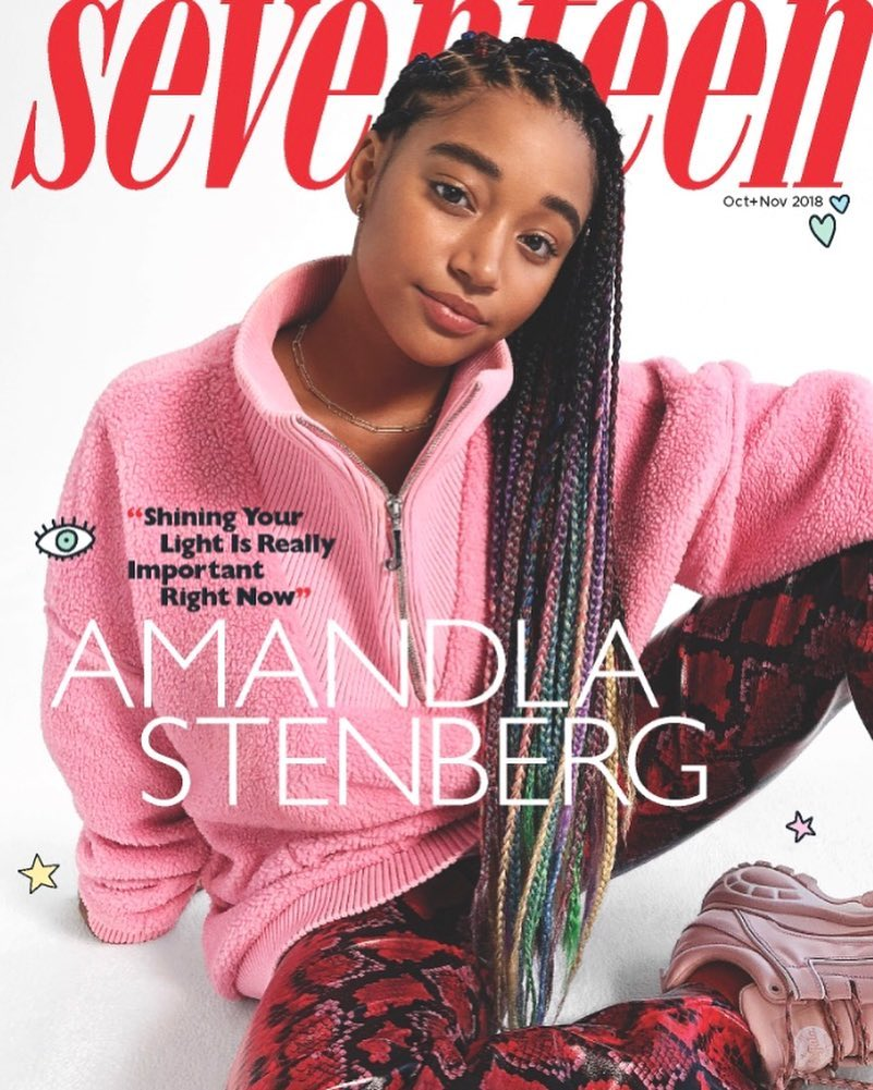 Amandla Stenberg With Back Dreads For Seventeen Magazine 2020