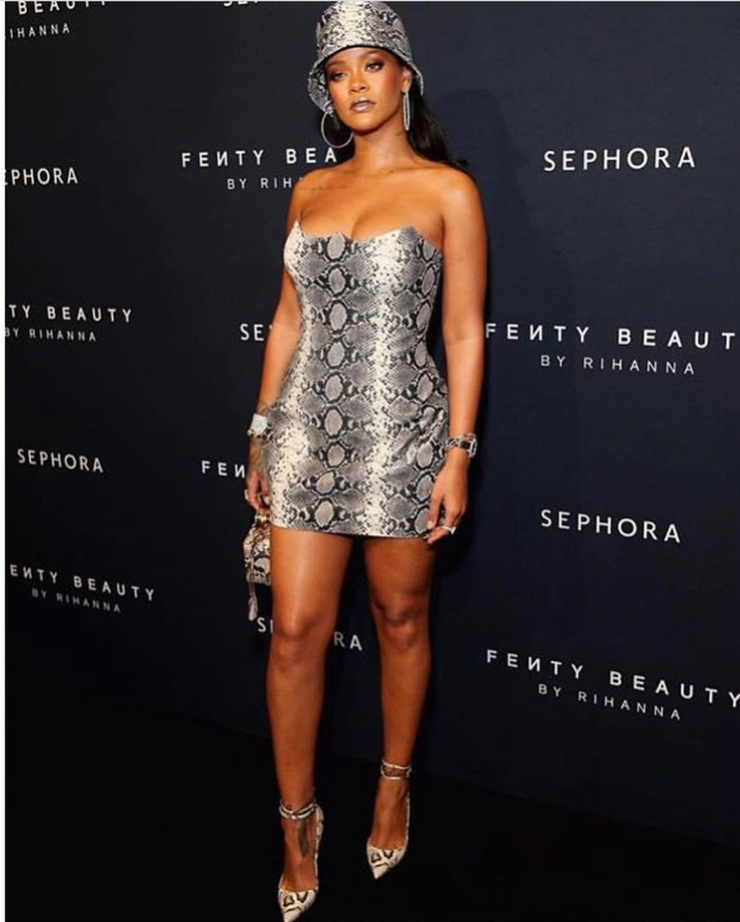 All Over Snakeskin Print On Rihanna 2020