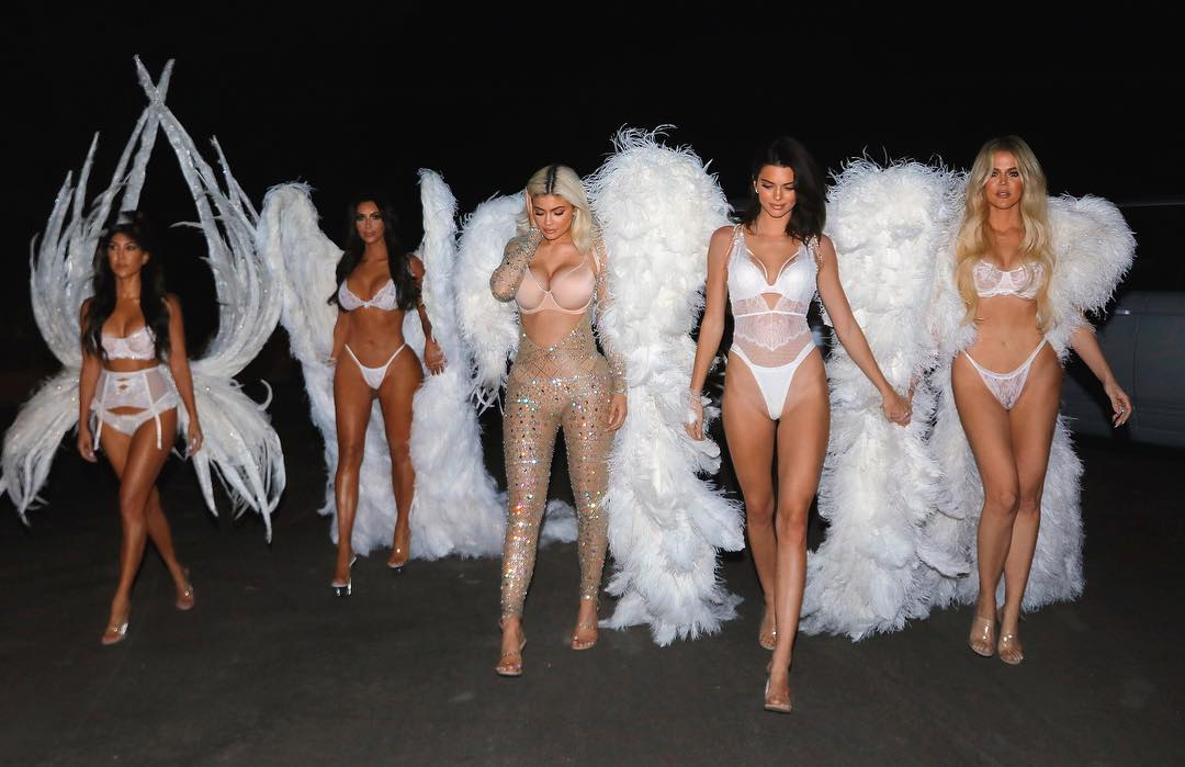 Kim Kardashian With Her Relatives Wearing Victoria's Secret Outfits 2019