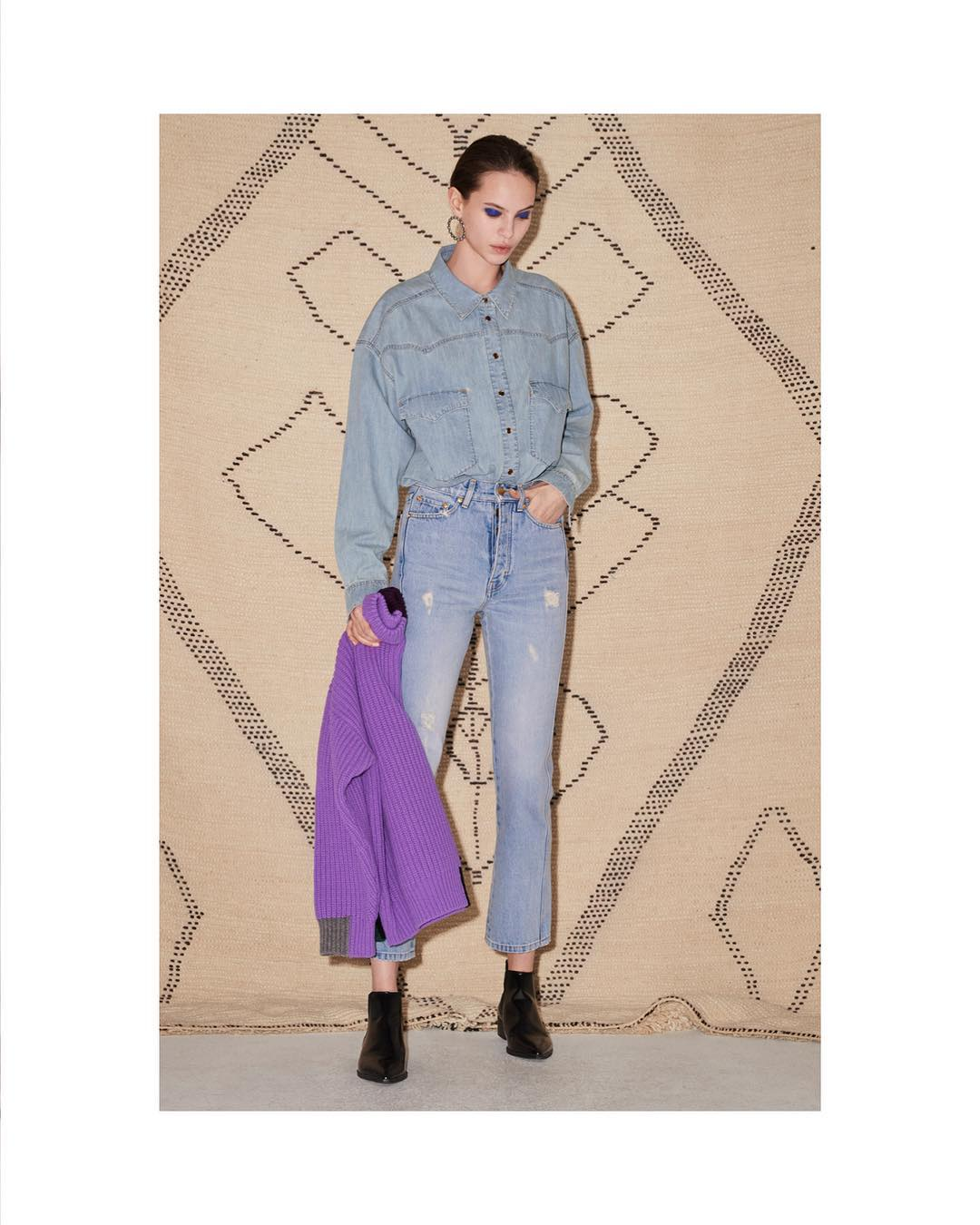 Double Denim Trend From Victoria Beckham 2020