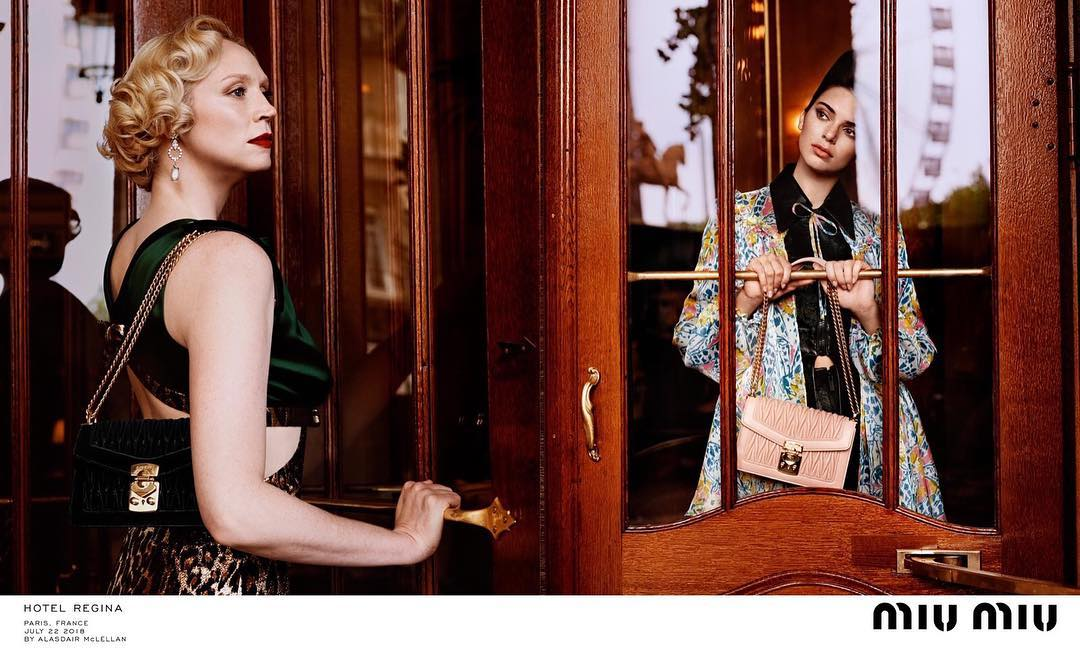 Gwendoline Christie And Kendall Jenner For Miu Miu Campaign 2021