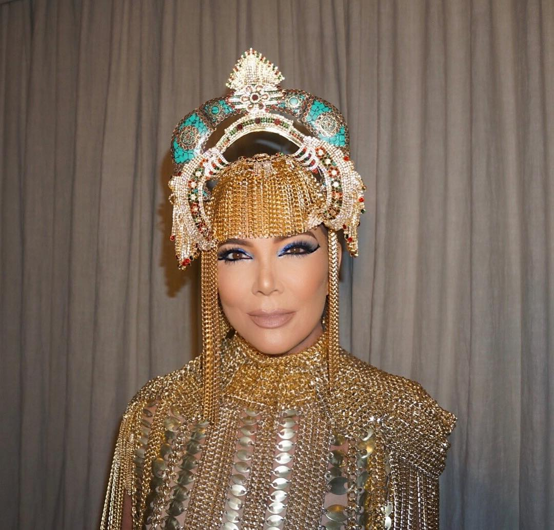 Kris Jenner In Cleopatra Costume During Halloween 2020