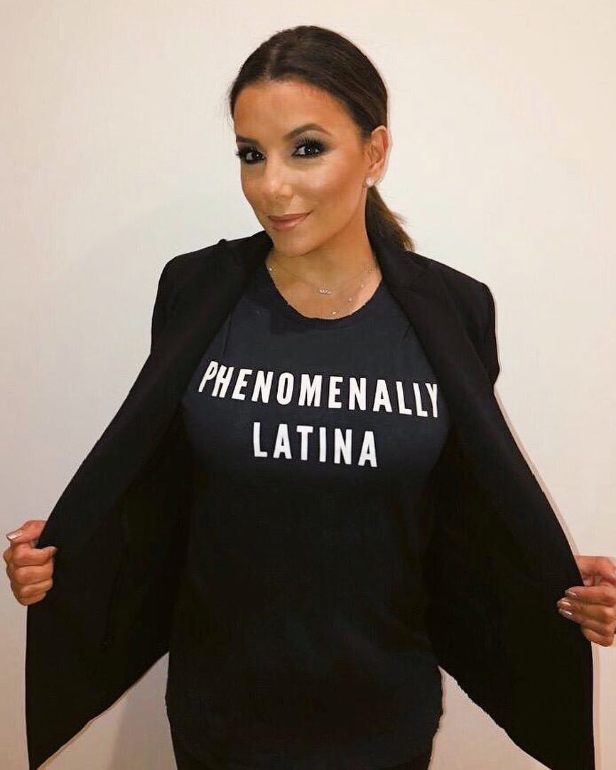 Eva Longoria Baston Wearing All Black Look: Black Blazer And Black T-shirt 2020