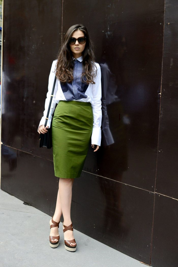 How To Wear Green Skirts 2019