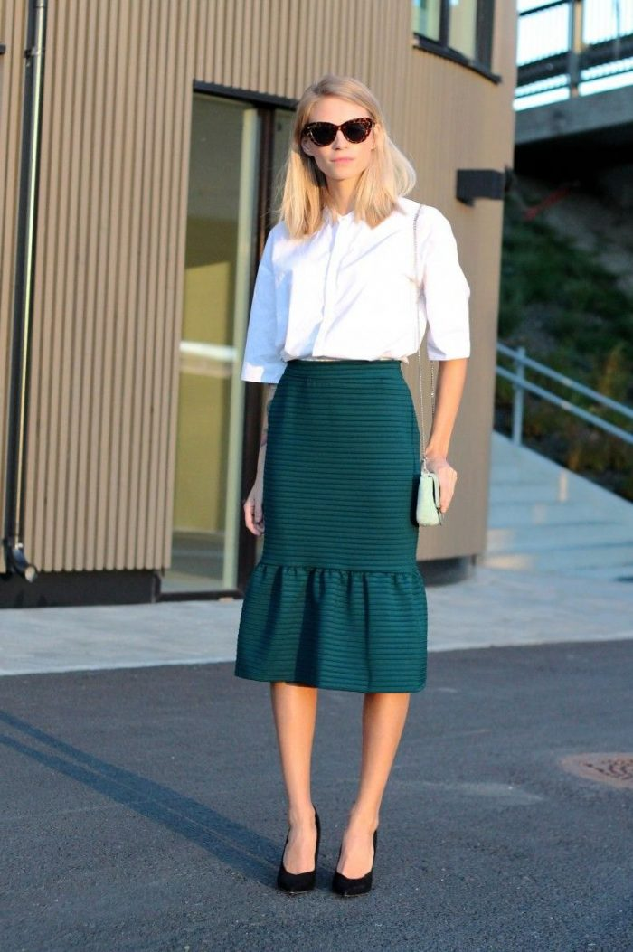 How To Wear Green Skirts 2020