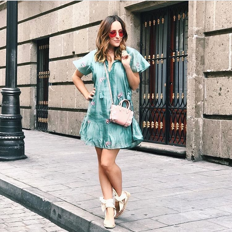 How To Wear Turquoise Silk Dress With Rounded Sunglasses This Summer 2020