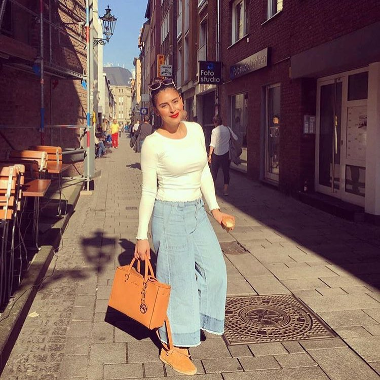 How To Wear Denim Culottes This Spring 2019
