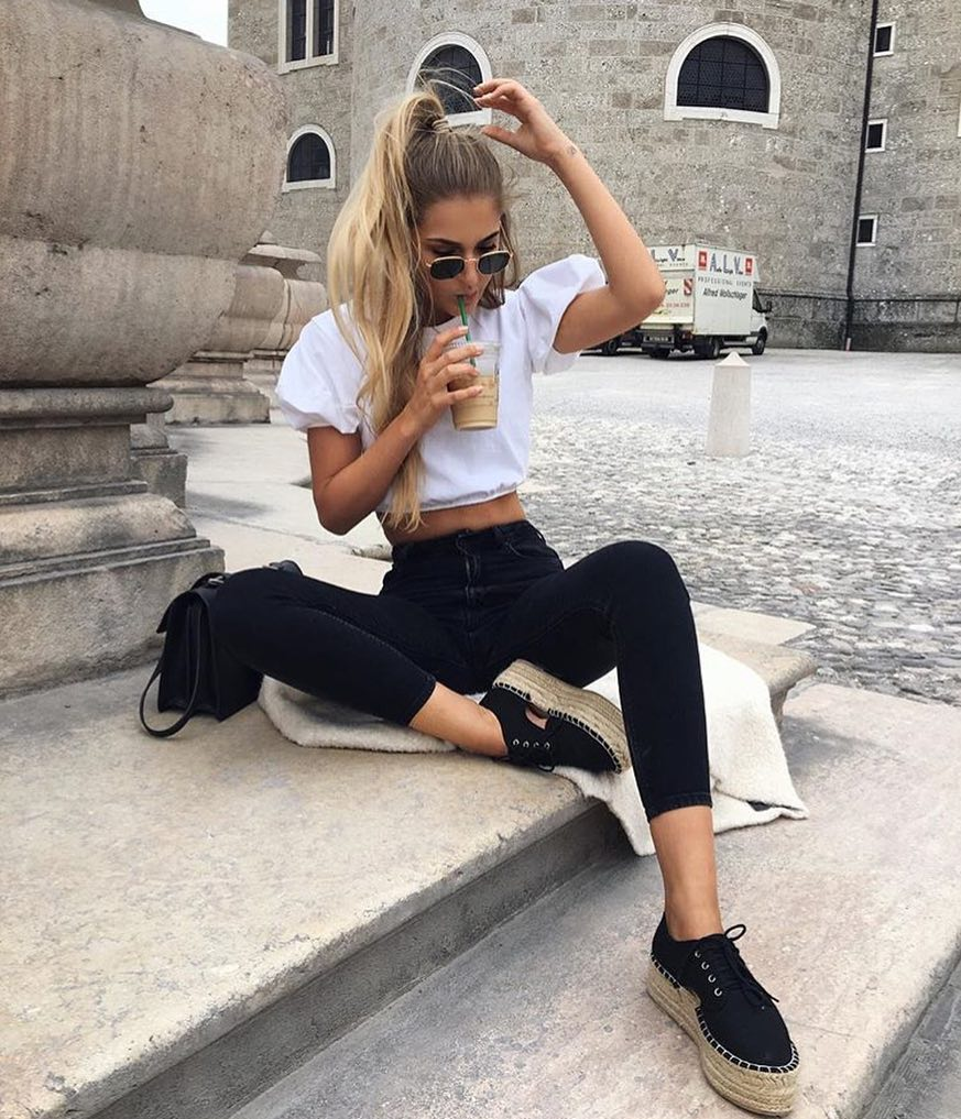 White Top And Black Bottoms: Perfect Essentials For Summer Months 2019