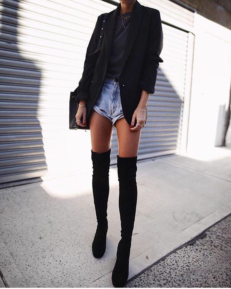 How To Wear OTK Boots With Blazers 2021