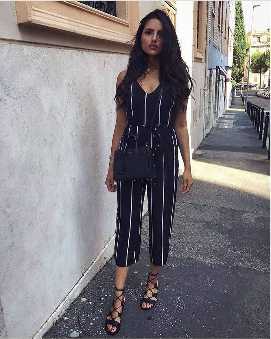 How To Wear Pinstripe Jumpsuits 2019
