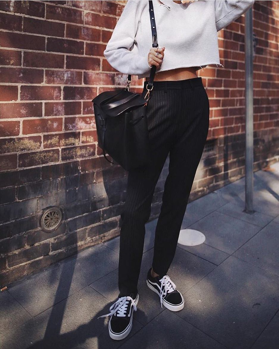 How To Create Modern Look With Black Pinstripe Trousers 2020