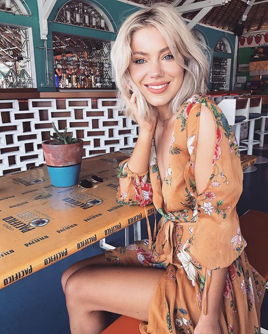 Summer Vacation Look: Cold Shoulder Kimono Dress In Floral Print 2021