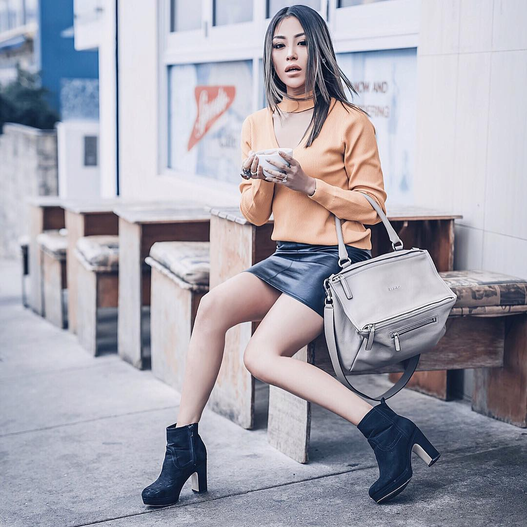 How To Wear Black Leather Mini Skirts This Spring 2019