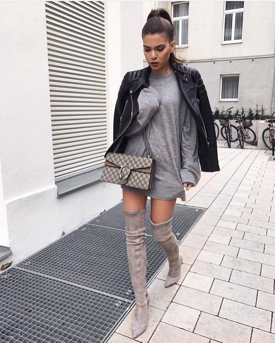 How To Wear Grey Pullover Dress This Autumn 2019