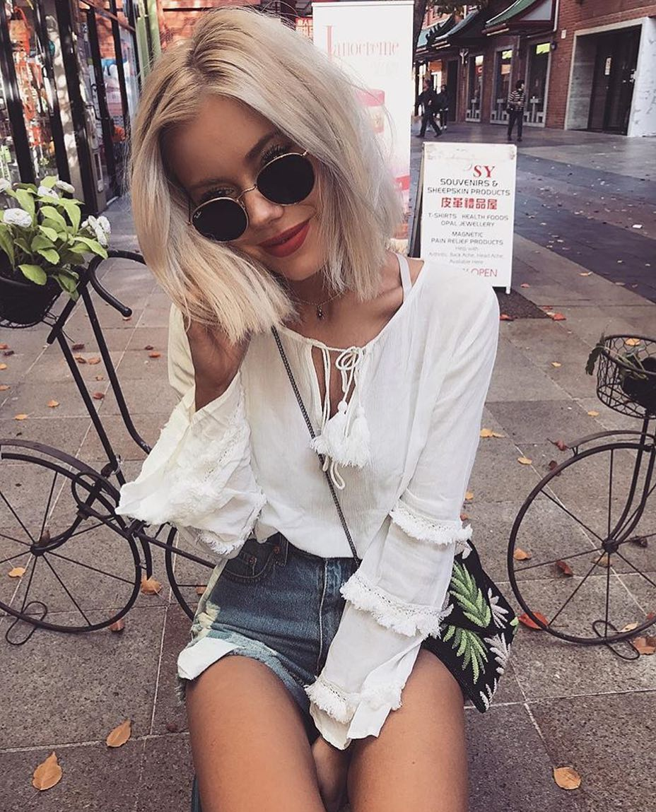 How To Wear Peasant Blouse In White Color 2019
