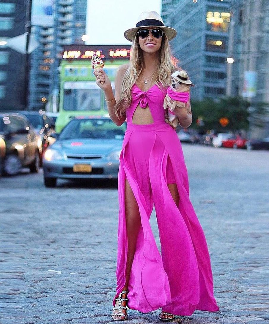 How To Wear Pink Cut Out Maxi Dress On The Streets 2019