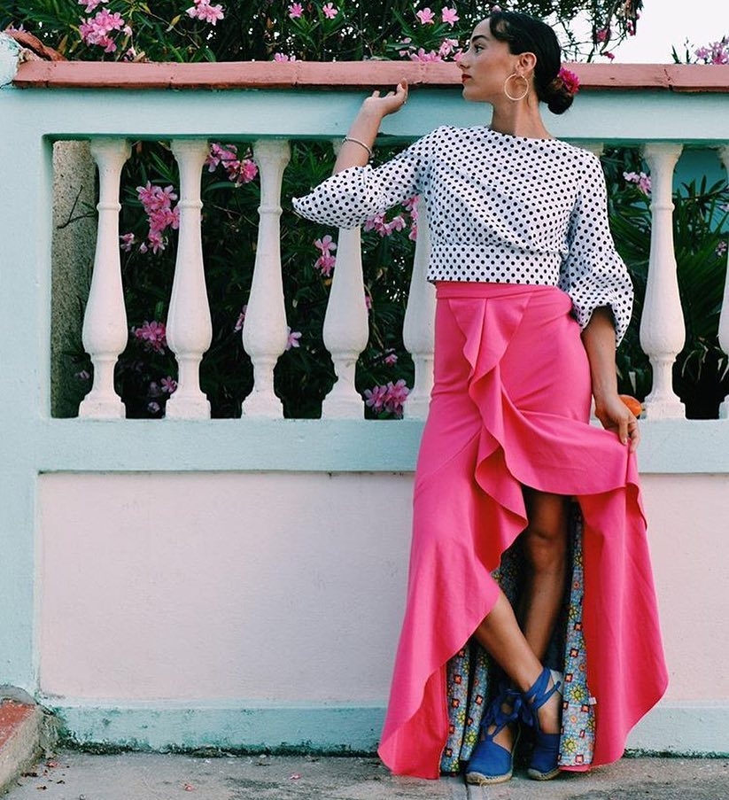 How To Wear Pink Flamenco Skirt 2020