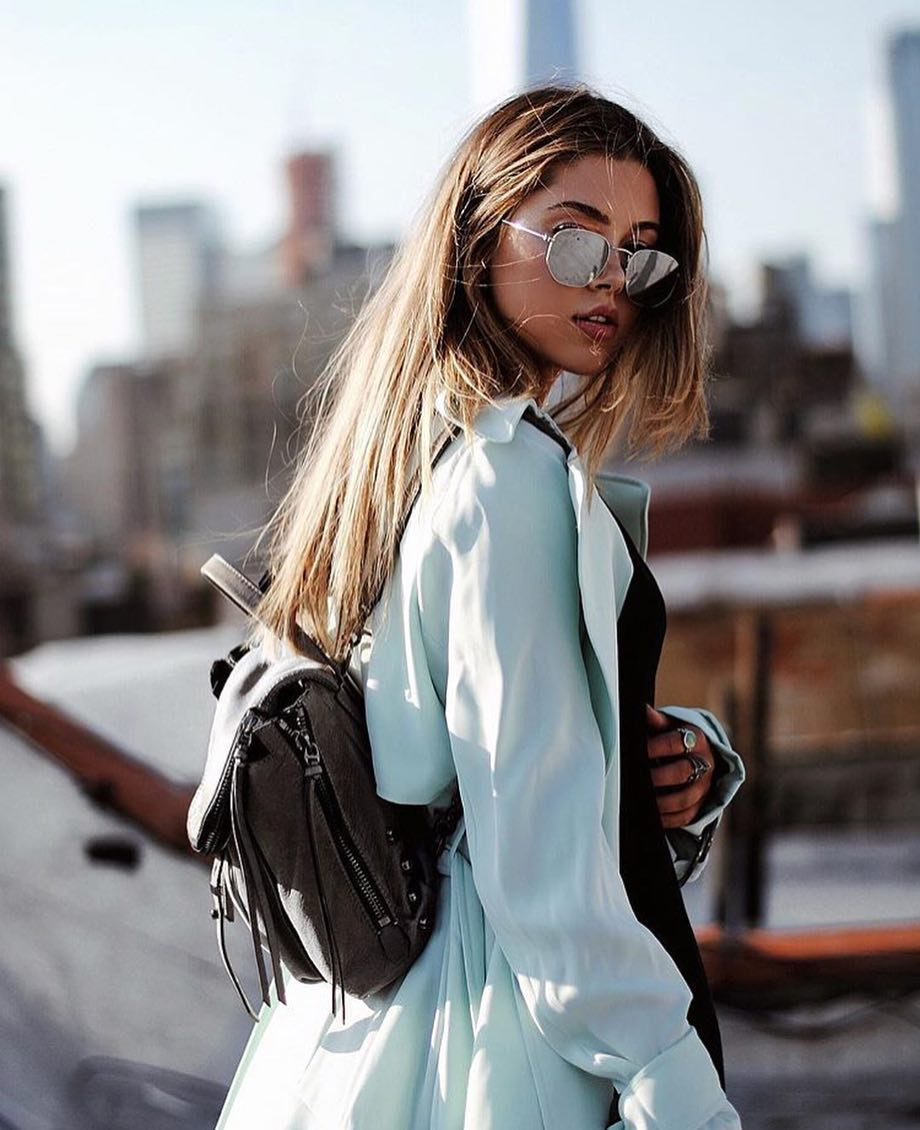How To Wear Light Blue Trench Coat This Spring 2021