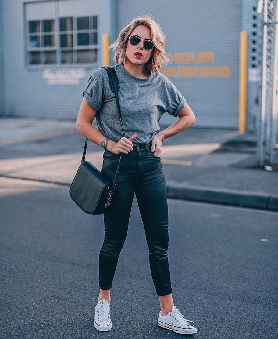 How To Wear Black Leather Skinny Pants Super Casually 2019