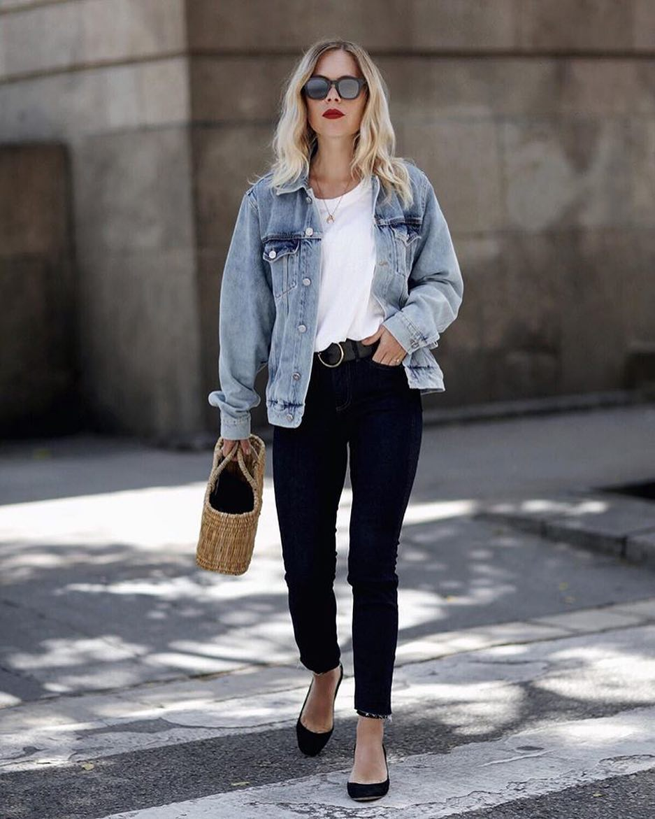 How To Combine Blue Denim Jacket With Indigo Skinny Jeans 2019