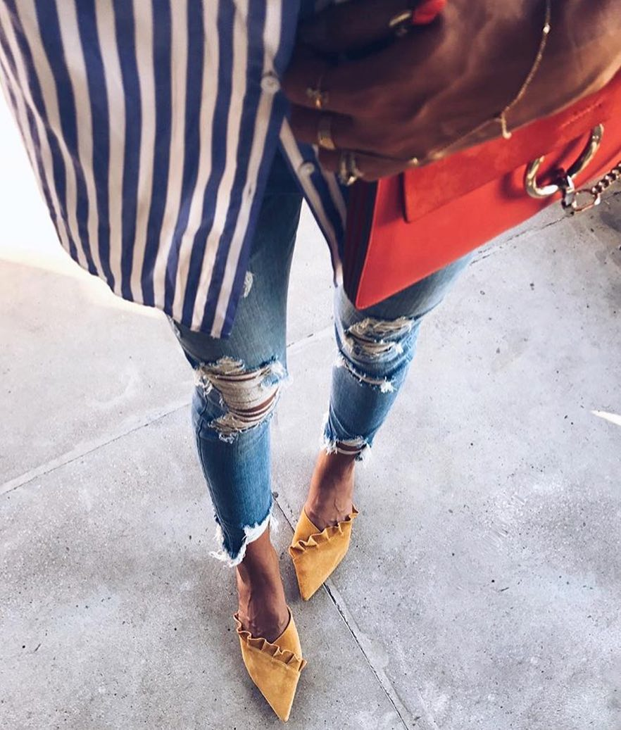 How To Style Yellow Ruffle Pumps 2019