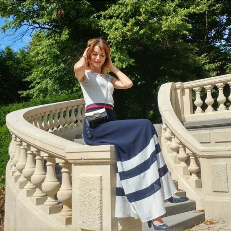 Summer Day Look 1: White Top And Maxi Skirt 2020